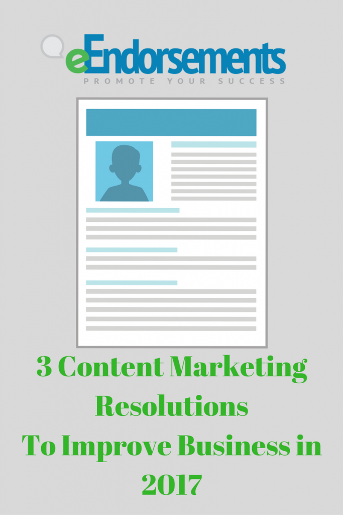 content marketing resolutions